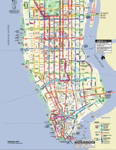 Lower Manhattan Bus Map